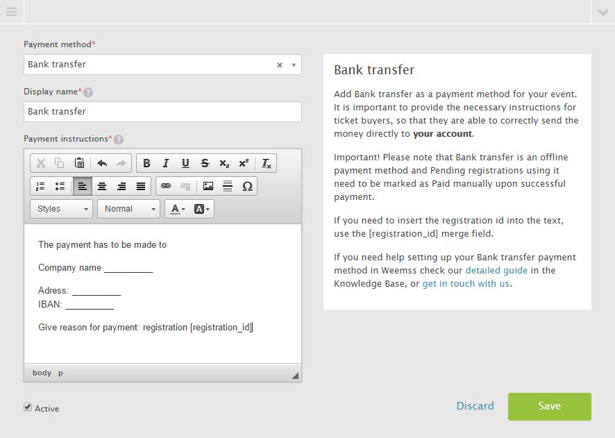 Bank Transfer Safe Payment Method