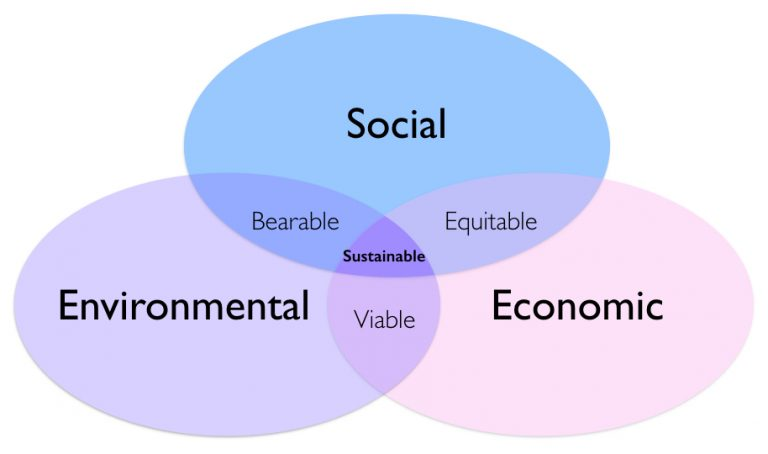 the social economical and environmental impacts Economic, social, and environmental sustainability 147 radical 'value changes', such as policies to recycle resources, to put birth rates into parity with death.